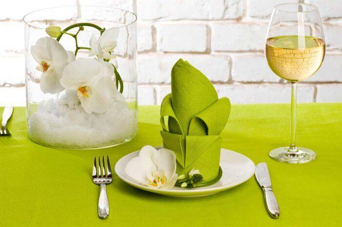 Hochzeitsdeko Weiß Grün