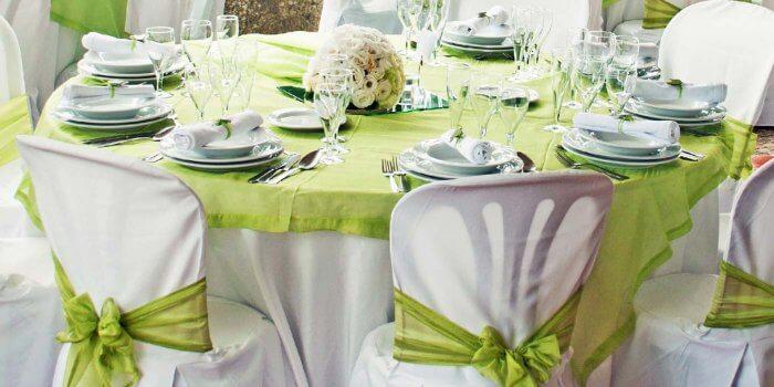 Tischdeko Hochzeit Grün Weiß