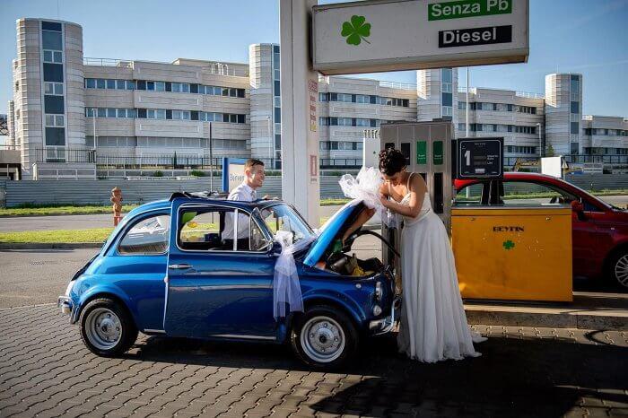 Hochzeitsfoto witzig