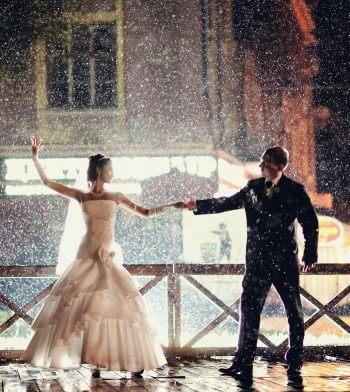 Regen am Hochzeitstag