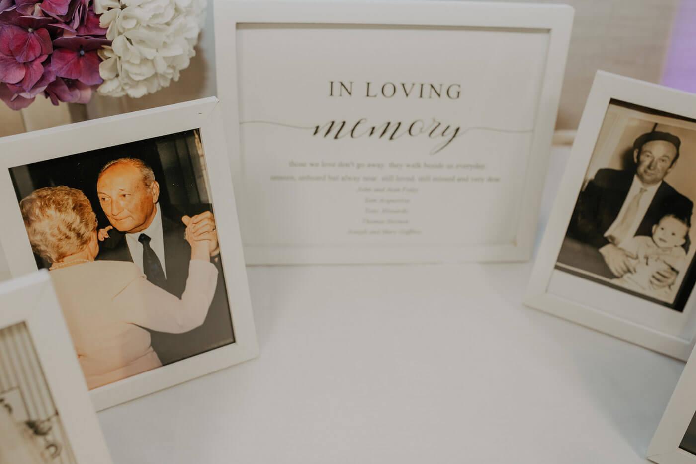 Ideen zum Gedenken an Verstorbene Hochzeit