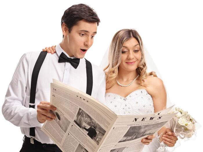 Hochzeitsanzeigen: Schöne Textvorschläge für die