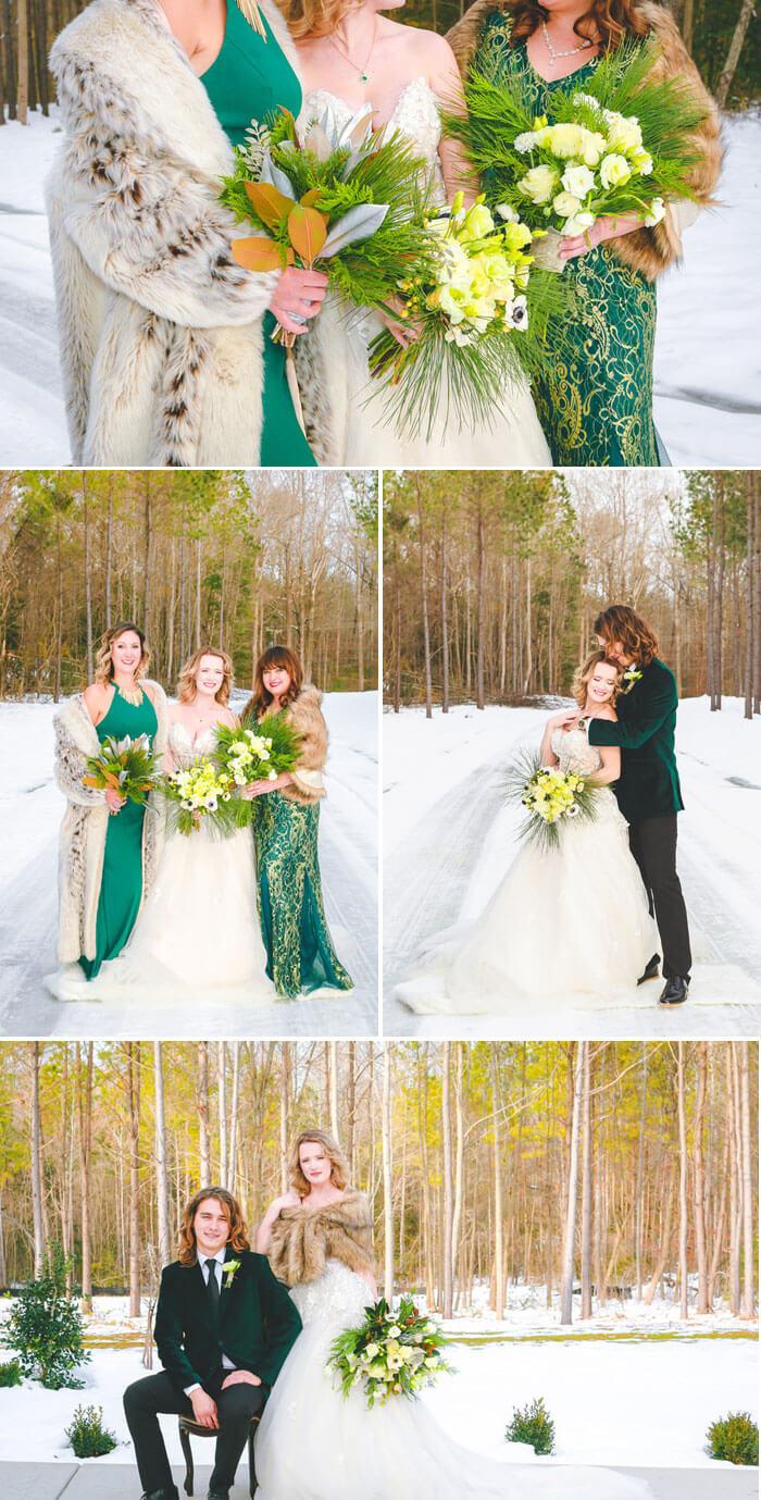 Grünes Hochzeitsoutfit