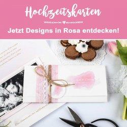 Hochzeitskarten in Rosa