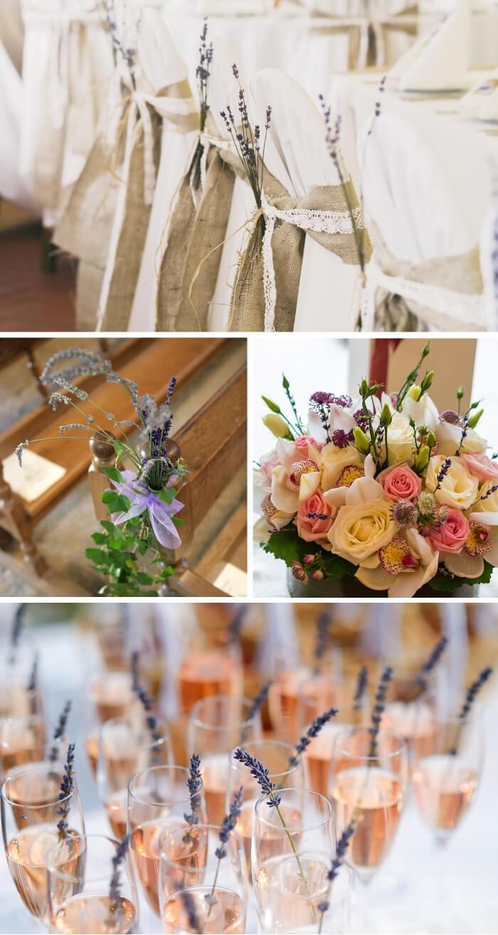 Hochzeitsdeko Lavendel