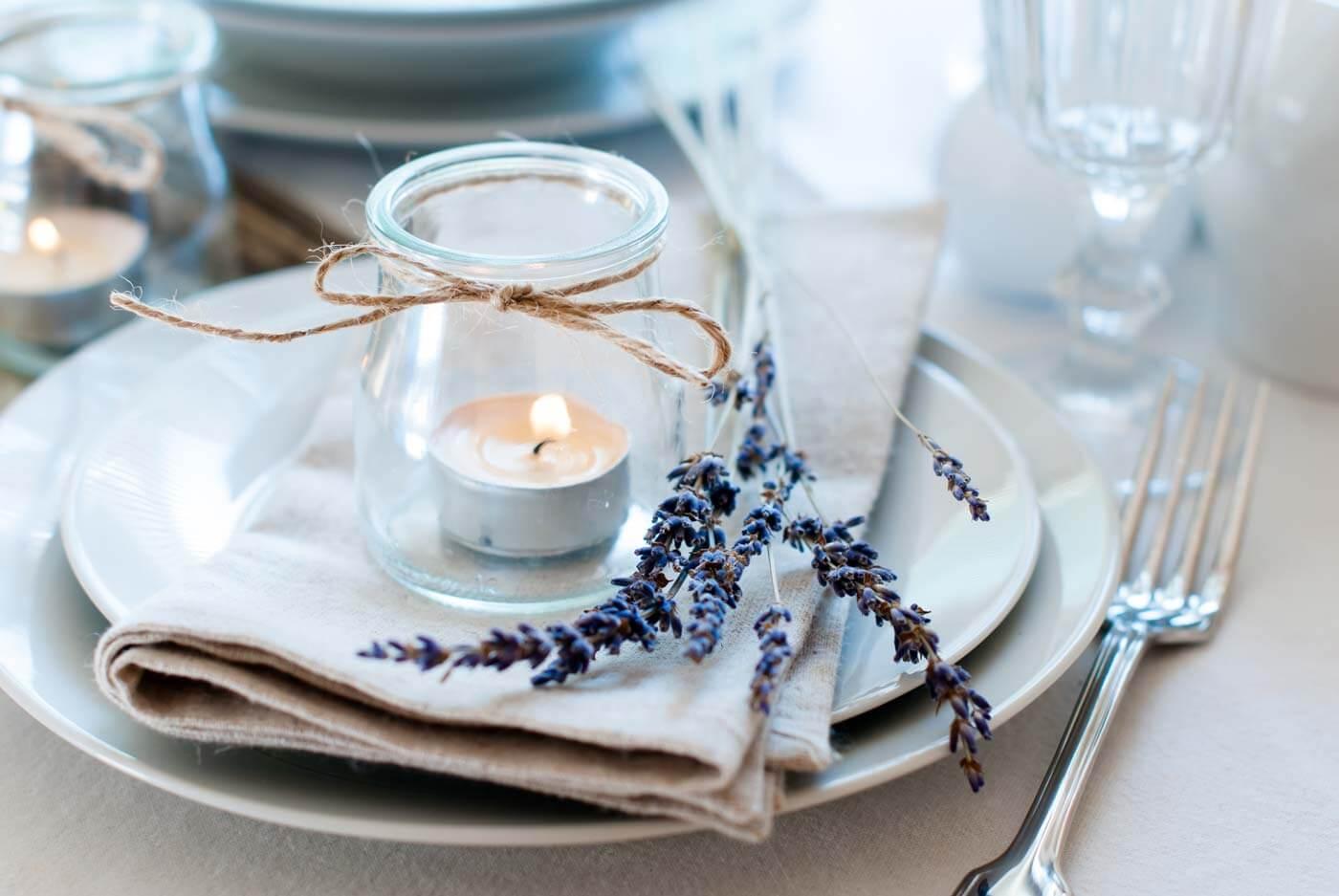 Hochzeitsdeko Vintage Lavendel