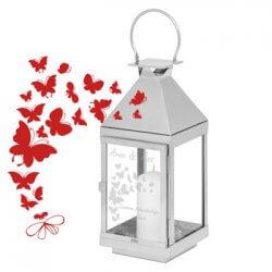 Laterne mit Schmetterlingen