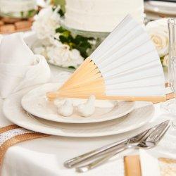 Fächer weiß Hochzeit
