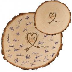 Gästebuch zur Hochzeit aus Holz