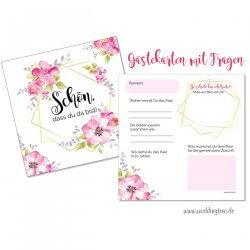 Gästebuchkarten Hochzeit