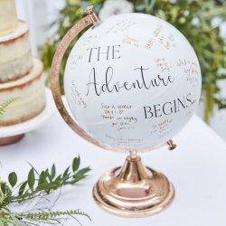Hochzeit Gästebuch Globus