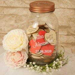 Wüsncheglas als Gästebuch zur Hochzeit