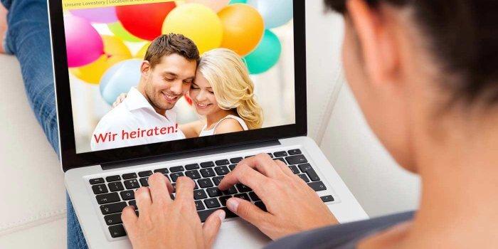 Homepage Hochzeit Beispiel