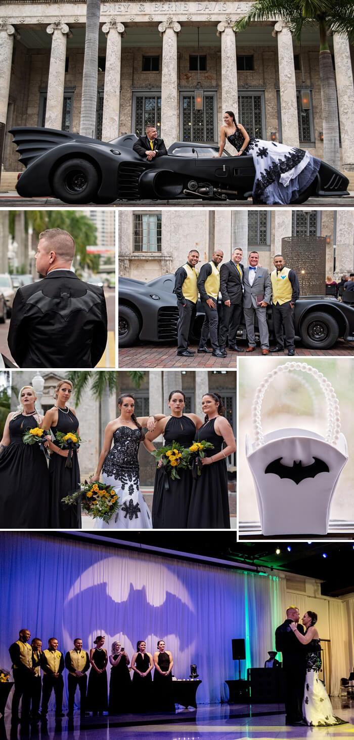 Batman und Catwoman Hochzeit
