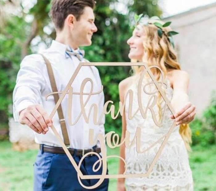Danke Schild Hochzeit