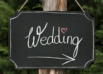 Hochzeit Schilder