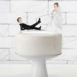 Tortenfigur Hochzeit lustig