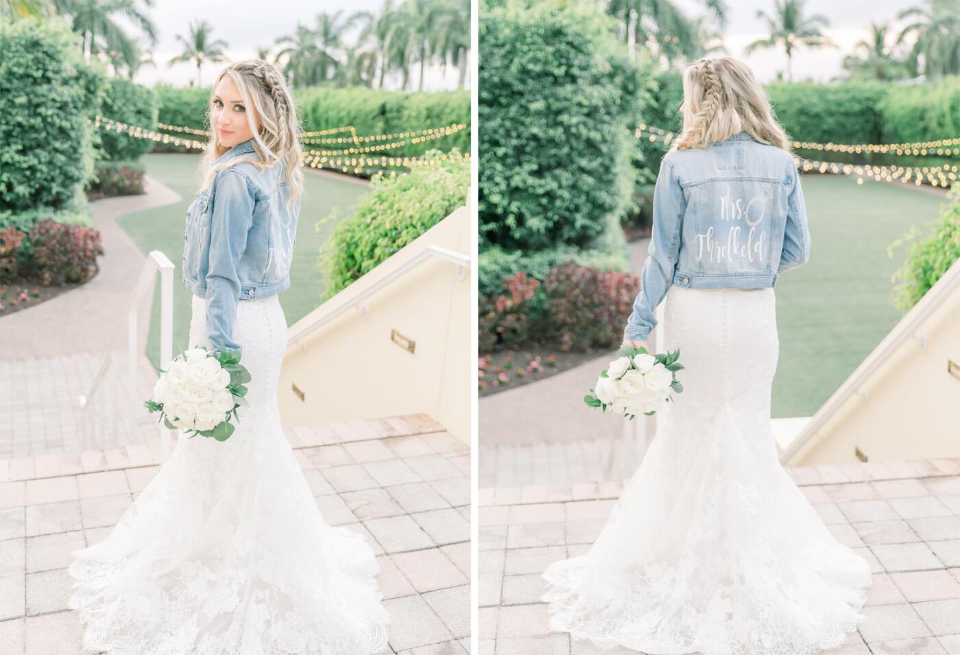 Brautkleid Jeansjacke