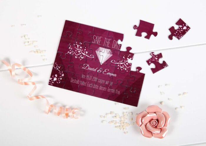 Einladung als Puzzle