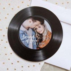 Hochzeitseinladung Schallplatte