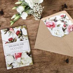 Hochzeitseinladungen Umschläge