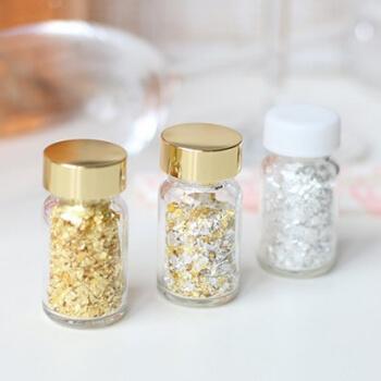 Essbare Goldflocken Silberflocken-Sekt