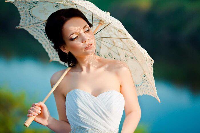 Sommer Hochzeitskleid