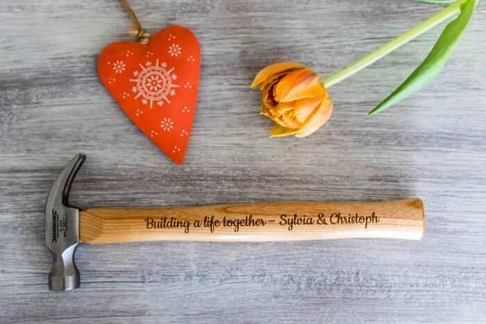 Personalisierter Hammer Hochzeit
