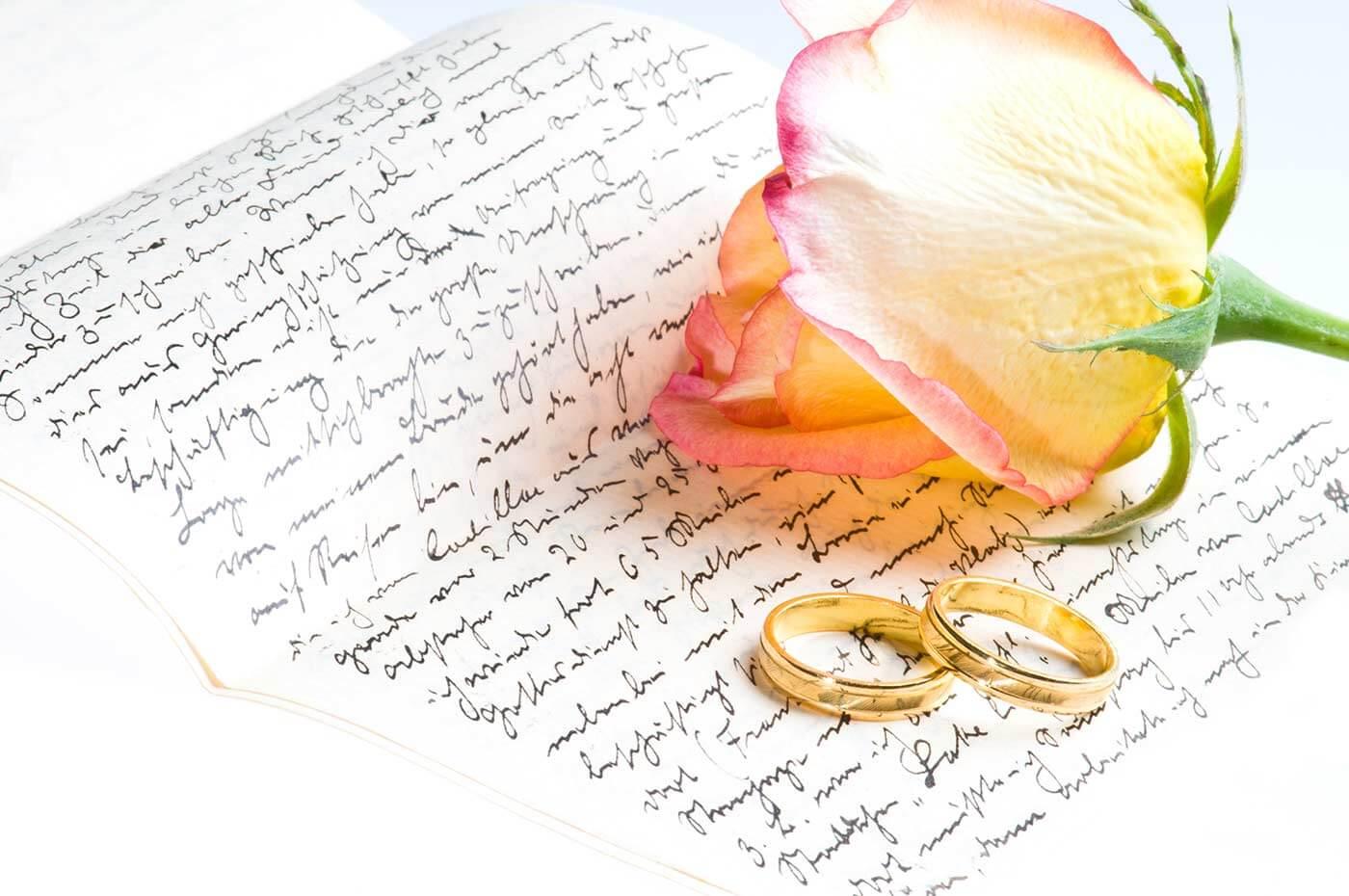 Streitbox Liebesbrief Eheversprechen