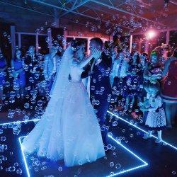 Hochzeitstanz mit Seifenblasen