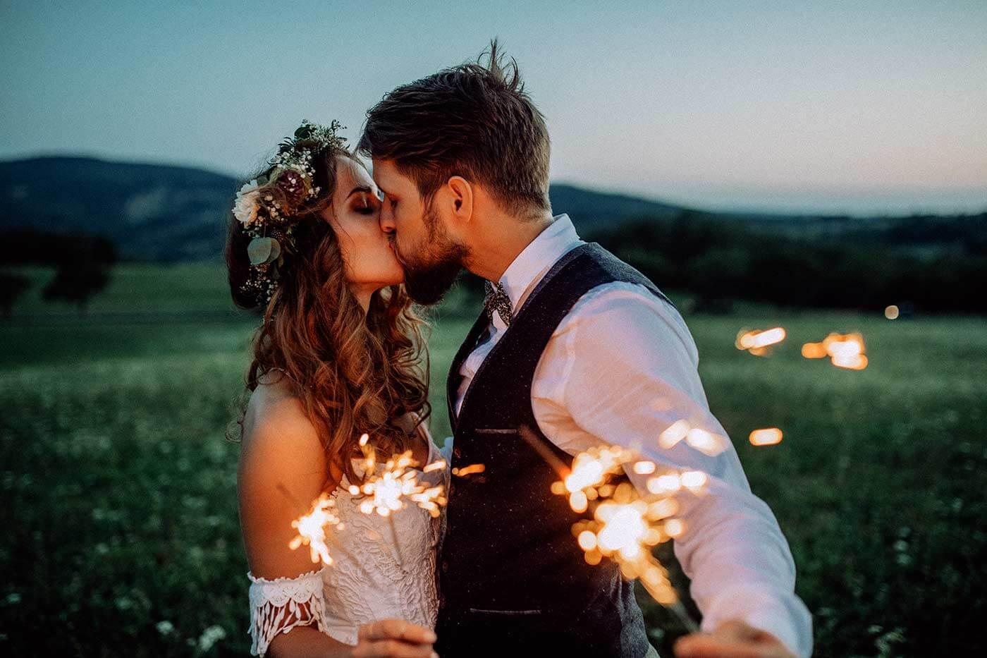 Hochzeit Wunderkerzen Fotos