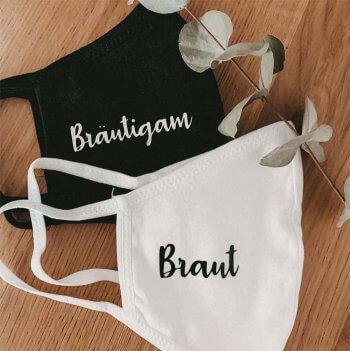 Braut Bräutigam Maske
