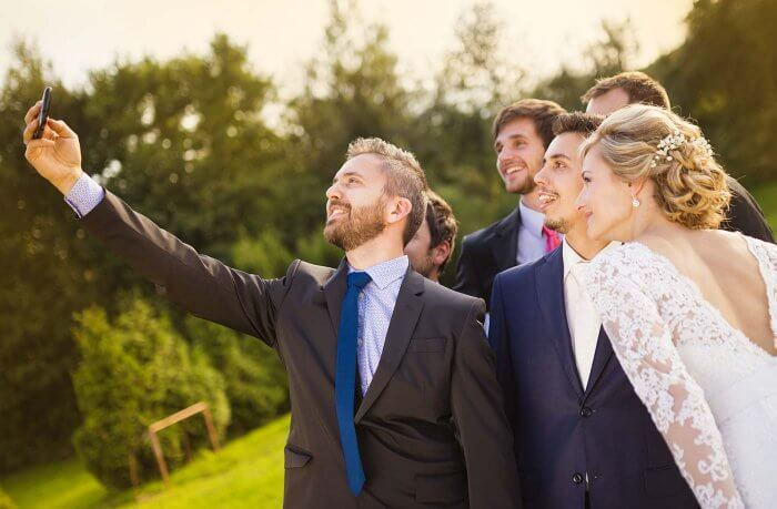 Hochzeitsselfie