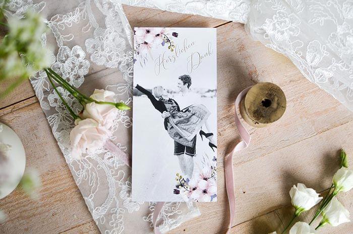 Danksagung Hochzeit Karte