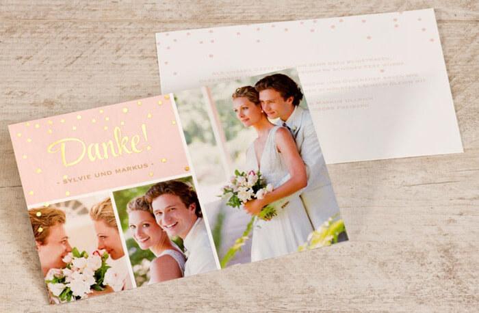 Hochzeit Danksagungskarte