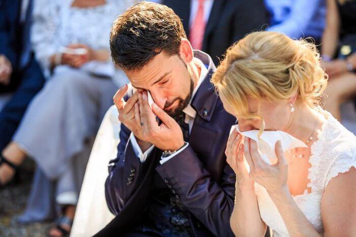 Freudentränen bei der Hochzeit