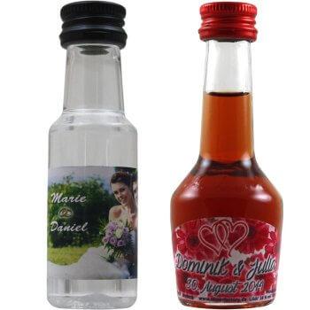 Mini Schnapsflaschen Hochzeit