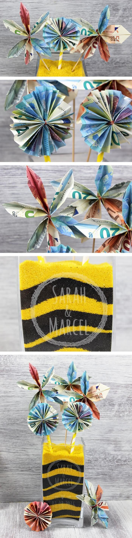Geldgeschenk Geldblumen