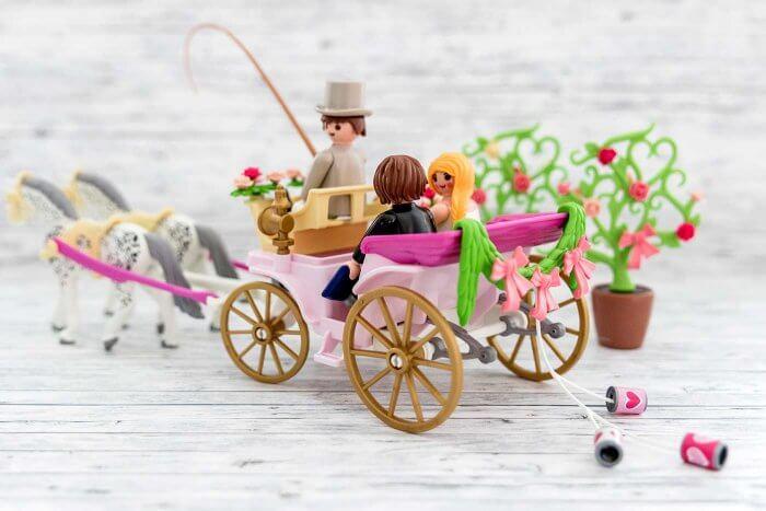 Playmobil Hochzeitskutsche mit Dosen