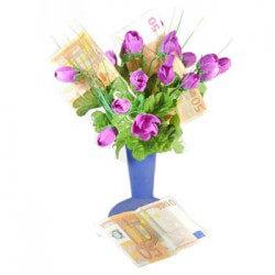 Geldgeschenk Blumenstrauß