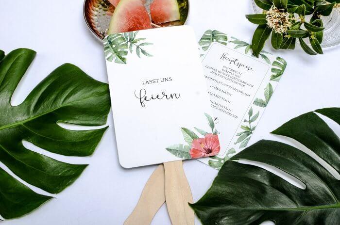 Getraenkekarte Hochzeit Kartenfaecher