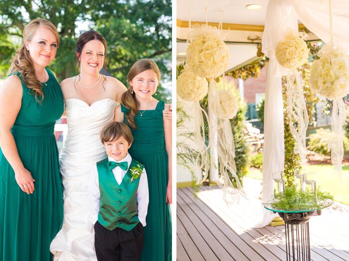 Dekoideen grüne Hochzeit