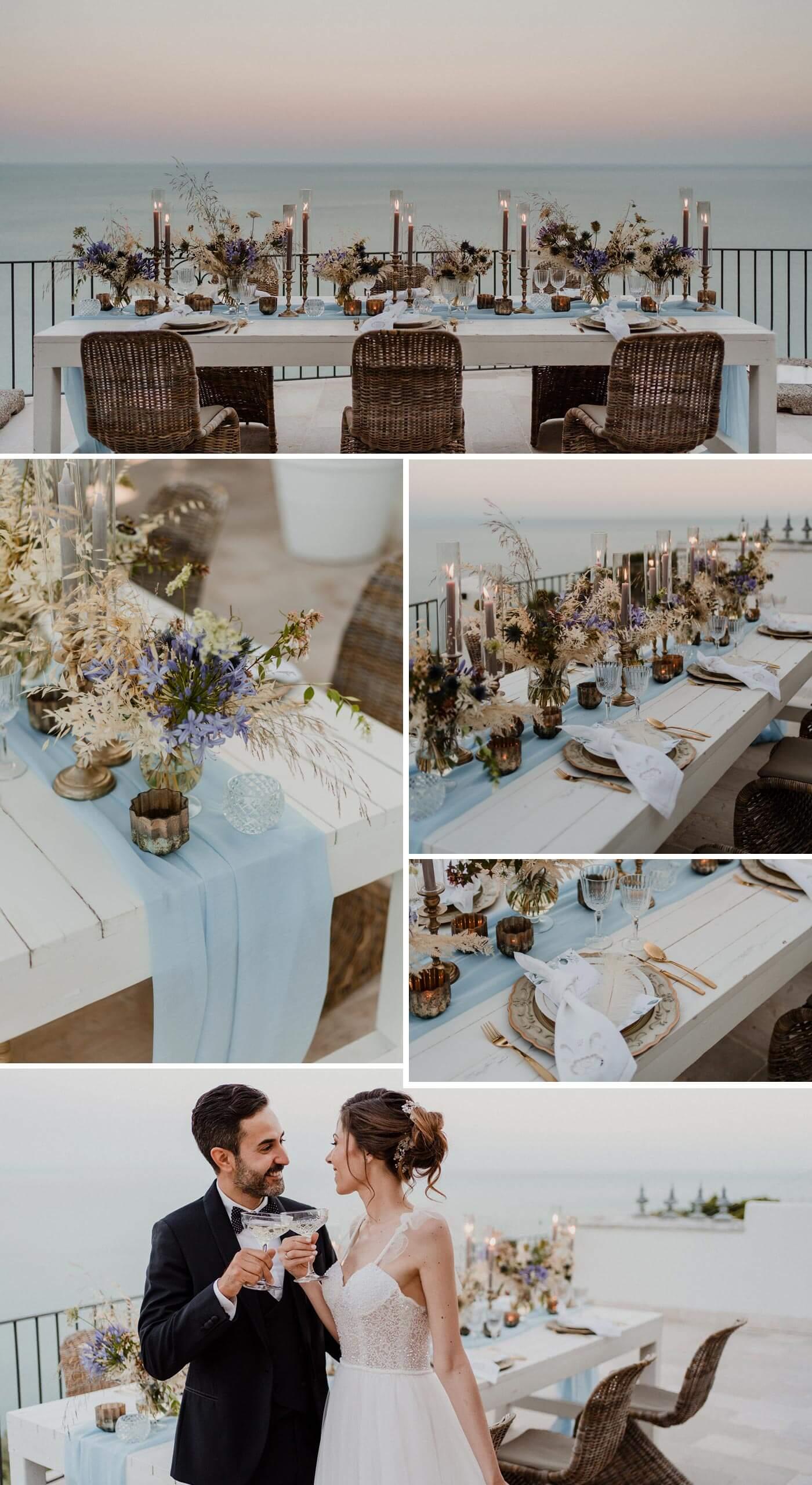 Heiraten in Italien: Tischdeko