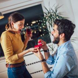 Heiratsantrag zu Hause