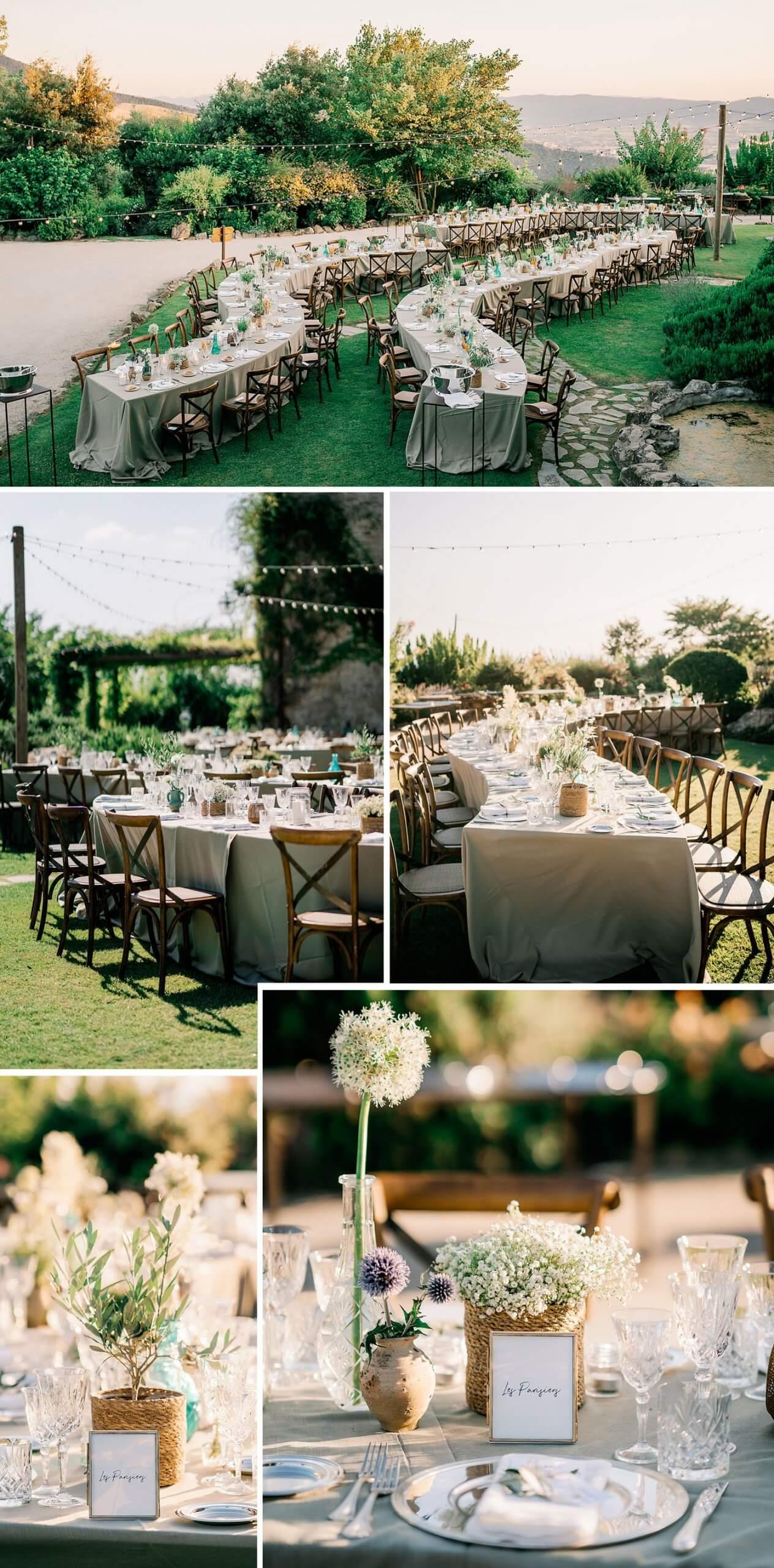 Hochzeit draußen feiern