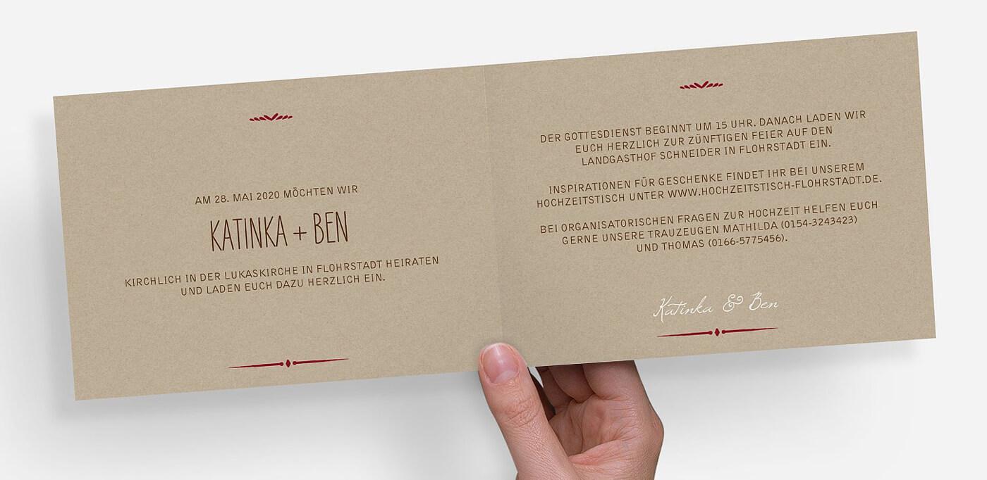 Text für Hochzeitseinladung