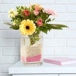 Vase mit Gravur Hochzeit