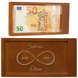 Geldgeschenkbox mit Unendlichkeitszeichen