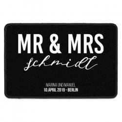 Fußmatte Mr and Mrs