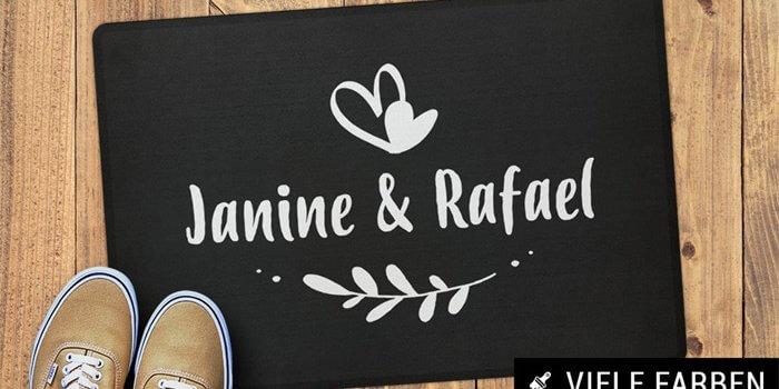 Hochzeit Fußmatte